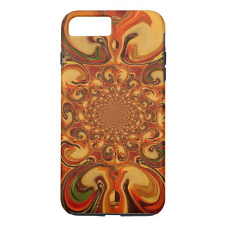 Red green yellow Cool Retro Vintage flowers design iPhone 7 Plus Case