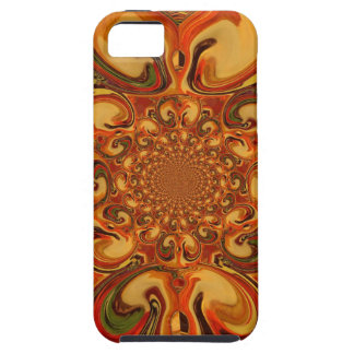 Red green yellow Cool Retro Vintage flowers design Tough iPhone 5 Case