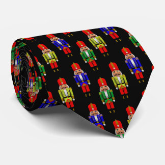 Red Green Yellow Nutcracker Tiled Pattern Tie