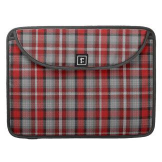 Red Grey Black Tartan Plaid Sleeve For MacBook Pro