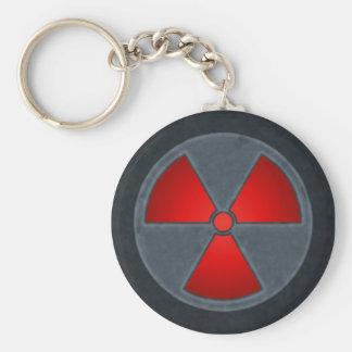 Red & Grey Radiation Symbol Keychain