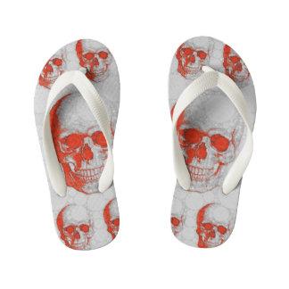 Red Grey Skulls Thongs
