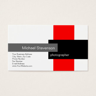 Red Grey White Black Business Card