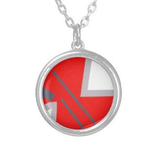 Red&Grey ZigZag Pendant