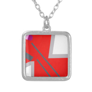 Red Grey ZigZag Custom Necklace