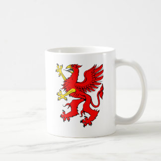Red Griffin/Griffon/Gryphon Coffee Mug