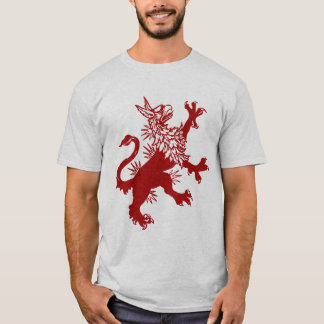 Red Griffin - Medieval Gryphon T-Shirt