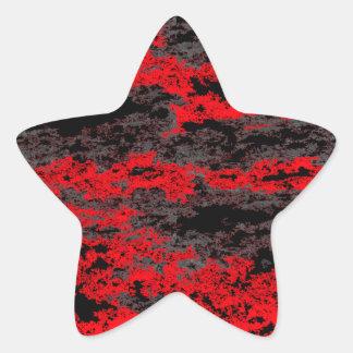 Red Grunge Clouds Stickers