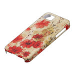 Red Grunge Floral iPhone 5 Cases