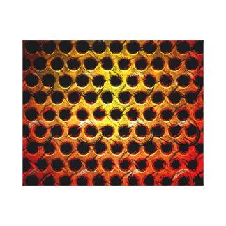 Red Grunge Metal Grid Canvas Prints