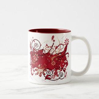 red grunge mug