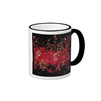 red grunge mugs