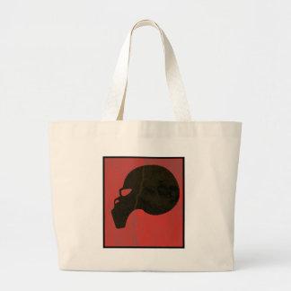 Red grunge skull bags