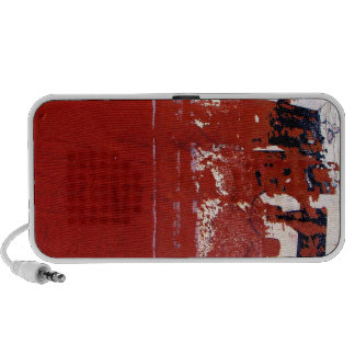 Red Grunge Texture with graffiti Speakers