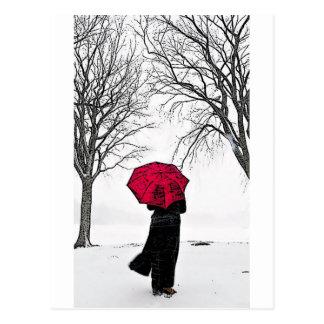 Red guard Rain (Red umbrella) Postcard