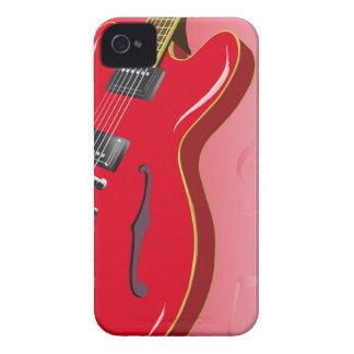 Red Guitar iPhone 4 Case-Mate Case