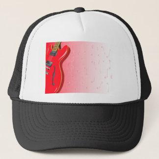 Red Guitar Trucker Hat