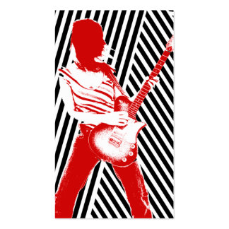 """""""Red Guitarist"""" Business Card"""