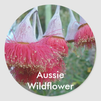 Red Gum Flower Classic Round Sticker