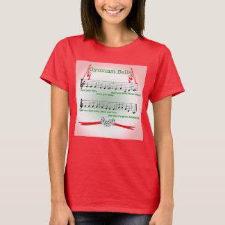 Red Gymnast Gymnastics Christmas Song Coach Shirt