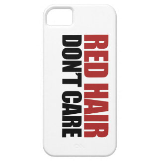 Red Hair Don't Care iPhone 5/5S Covers