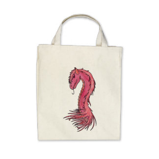 Red Hair Dragon Tote Bags