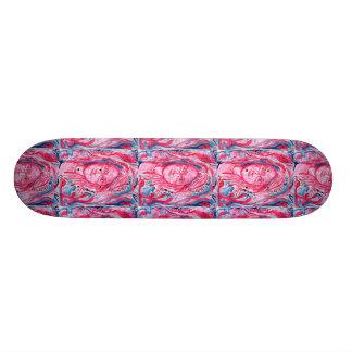 Red hair girl with glasses custom skateboard