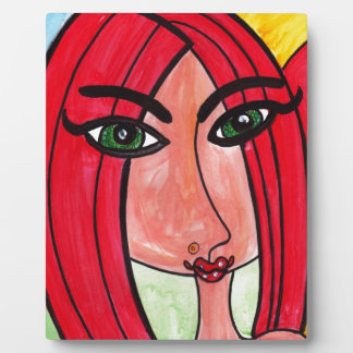 Red Hair Green Eyes Display Plaque