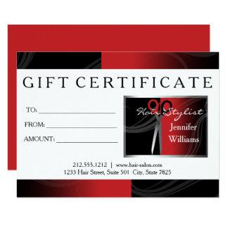 red hair salon gift cards 11 cm x 16 cm invitation card