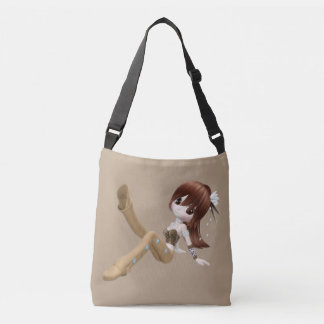 Red Hair Woman All-Over-Print Cross Body Bag Tote Bag