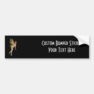 Red Haired 3D Pixie - Yellow Green Outfit Car Bumper Sticker