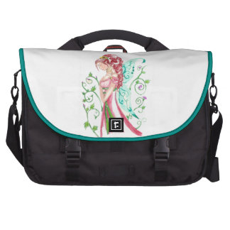 Red Haired Faery Laptop Bags