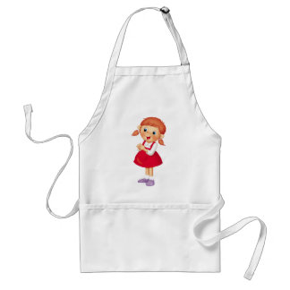 Red-haired Girl Standard Apron