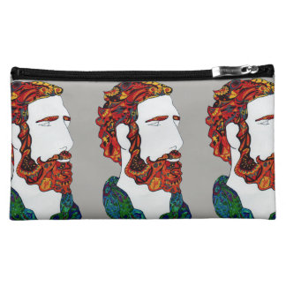 Red-haired hipster dude makeup bag