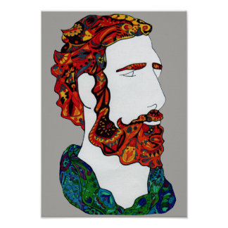 Red-haired hipster dude poster