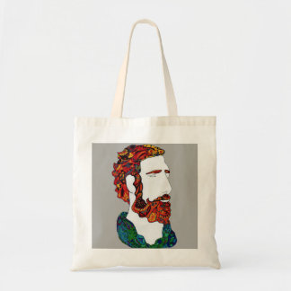 Red-haired hipster dude tote bag