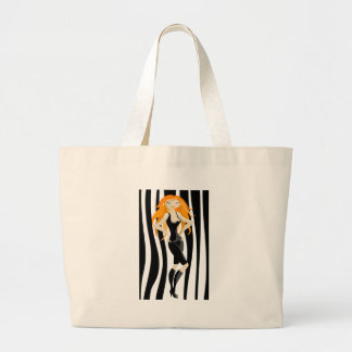 red-haired jumbo tote bag