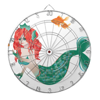 Red Haired Mermaid 2 Dartboard