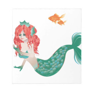 Red Haired Mermaid 2 Notepad