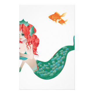 Red Haired Mermaid 2 Stationery