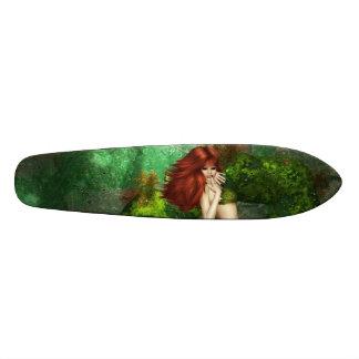 Red Haired Mermaid Skate Board Deck