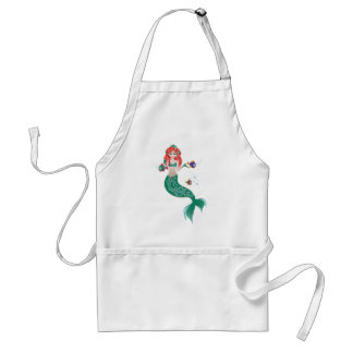 Red Haired Mermaid Standard Apron