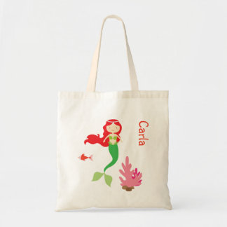 Red Haired Mermaid Treat Bag