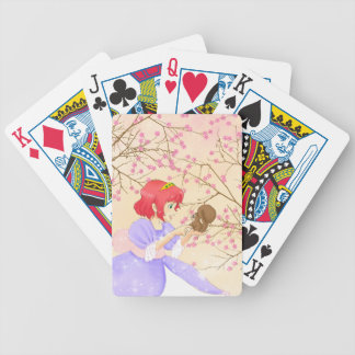 Red haired Princess and squirrel blossom Playing Cards