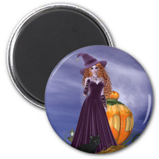 Red Haired Witch Magnet