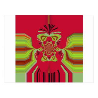 Red Hakuna Matata pattern Postcard