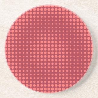 Red Halftone Coaster