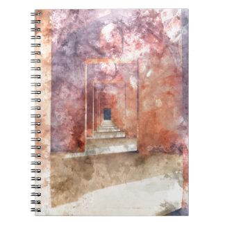 Red Hallway at the Taj Mahal Notebooks