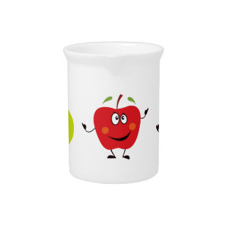 Red hand-drawn cute Apples Pitcher