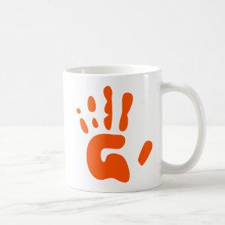 Red Hand Print Basic White Mug